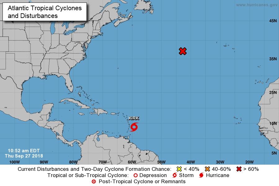 """Alerta la tormenta tropical """"Kirt"""""""