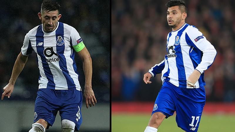 Herrera y Tecatito inician aventura en Champions