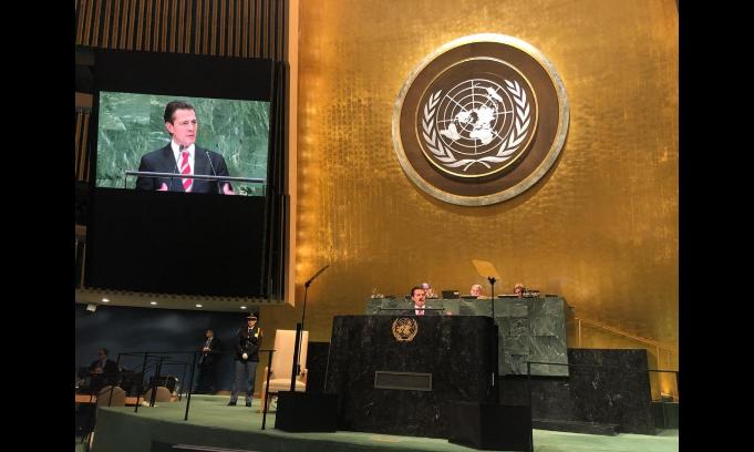Pide  EPN a combatir sargazo desde la ONU