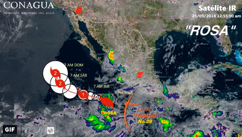 Se crea tormenta tropical «Rosa»