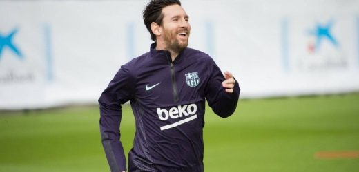 Messi vuelve al cesped con muchas ganas