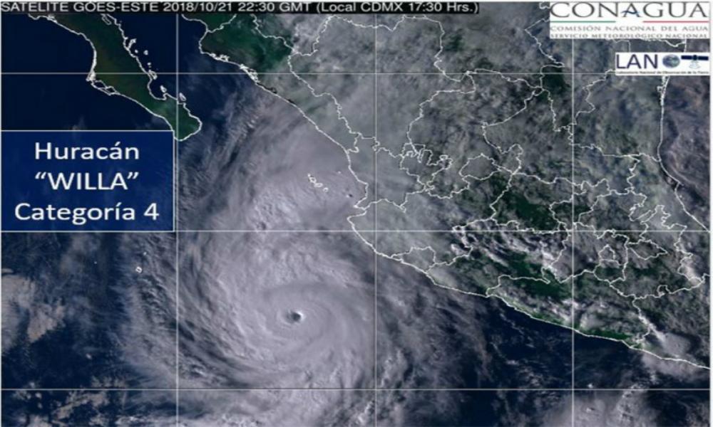 En alerta Sinaloa por el paso del huracán 'Willa'