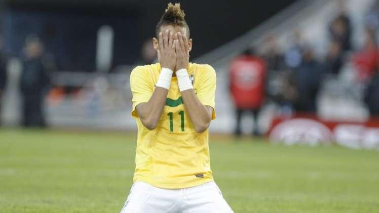 Neymar frustrado