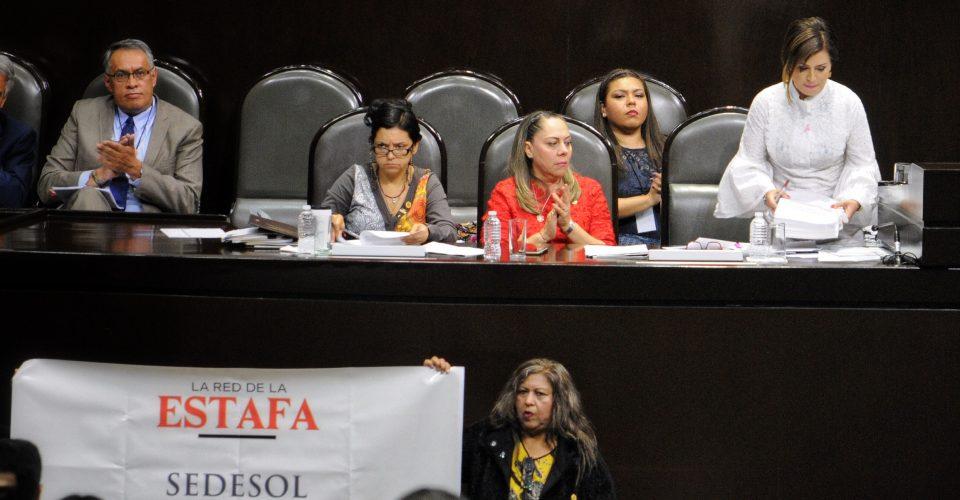 Diputados reclaman a Rosario Robles por presuntos desvíos