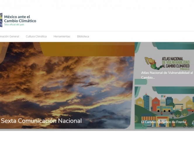 Lanzan página oficial México ante el cambio climático