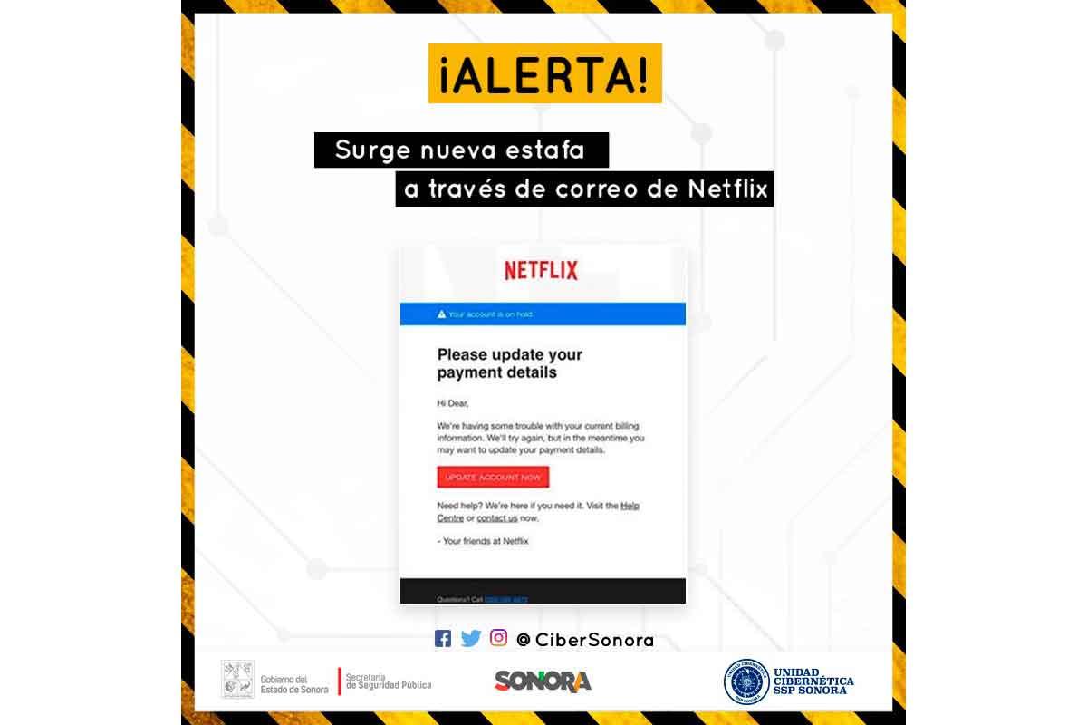 Alerta, difunde ciberpolicía nueva estafa que utiliza a NetflixLAT