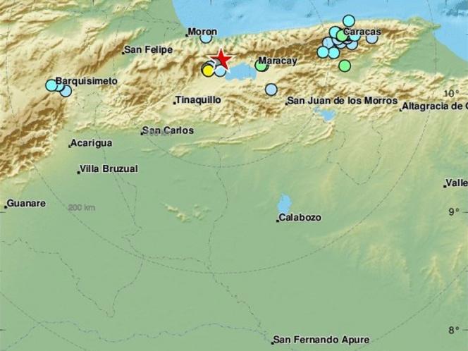 Sismo de magnitud 5.5 sacude la región central de Venezuela