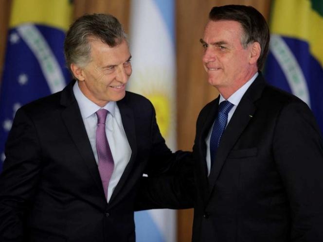 Bolsonaro recibe a Macri en Brasil; tunden a Maduro
