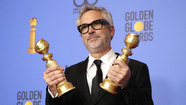 Triunfa Alfonso Cuarón y Roma en los Globos de Oro