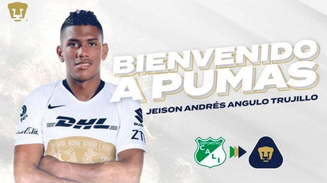 Jeison Angulo llega a Pumas