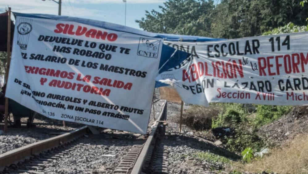 CNTE levantar plantón y paro laboral en Morelia