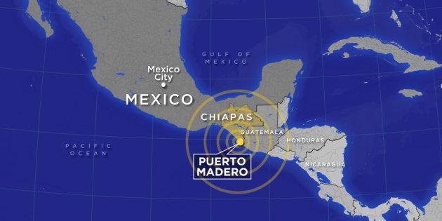 Sismo agita el mar y provoca hundimientos en Chiapas