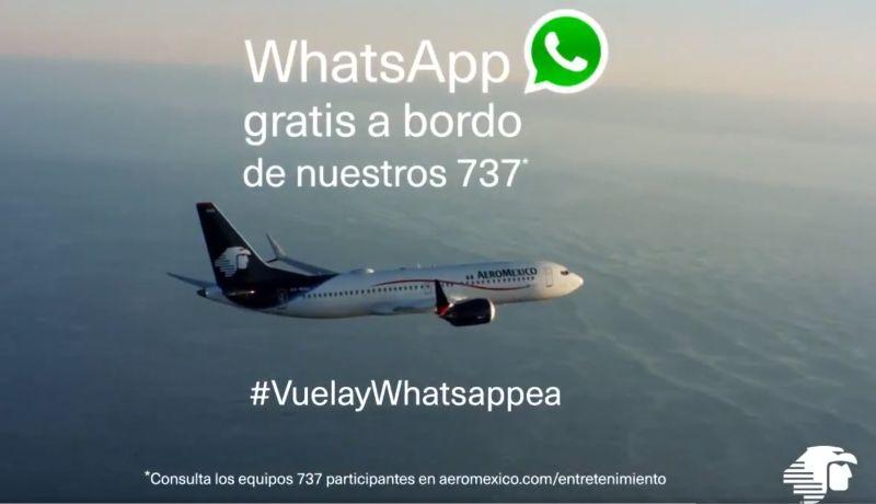 Se podrá mandar y recibir mensajes gratis en vuelos de Aeroméxico