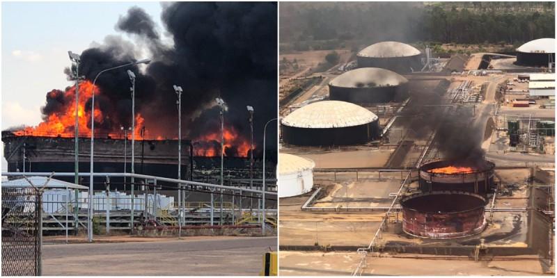 Explota tanque petrolero en Venezuela; ministro denuncia 'atentado'