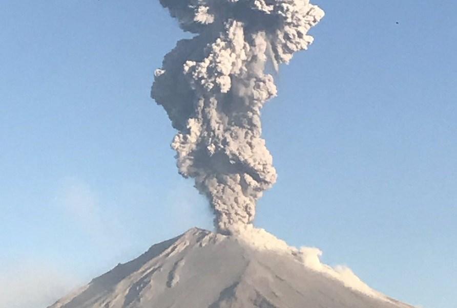Elevan alerta volcánica del Popocatépetl a Fase 3