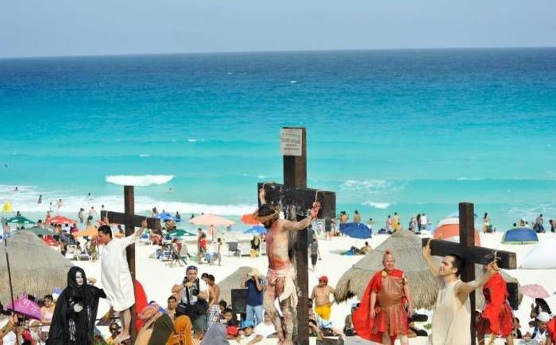Se esperan 7 mil asistentes al Viacrucis de Playa Delfines en Cancún