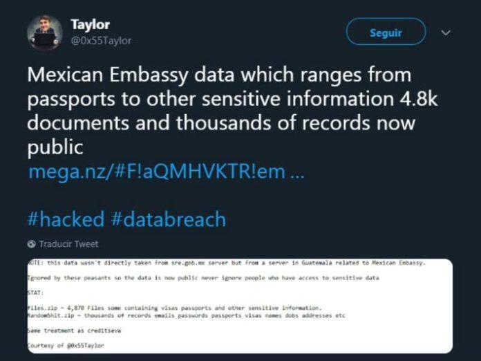 Hackean a la Embajada de México en Guatemala revela más de 4 mil documentos oficiales
