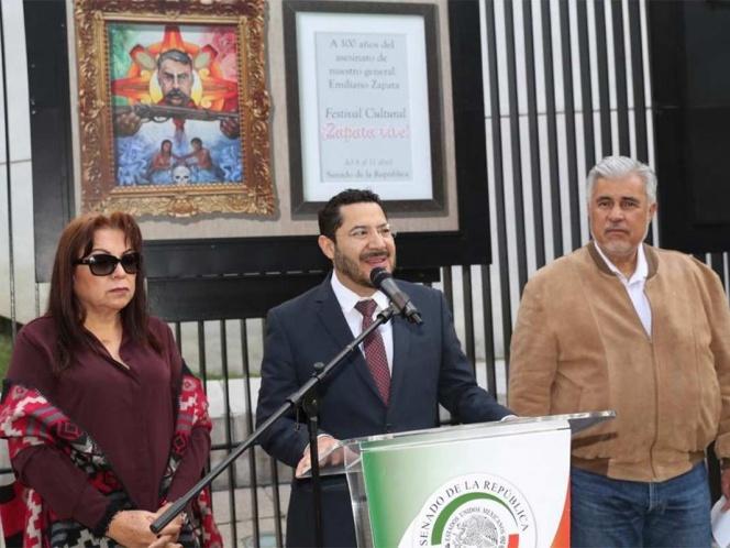 Legisladores rinden homenaje a Emiliano Zapata