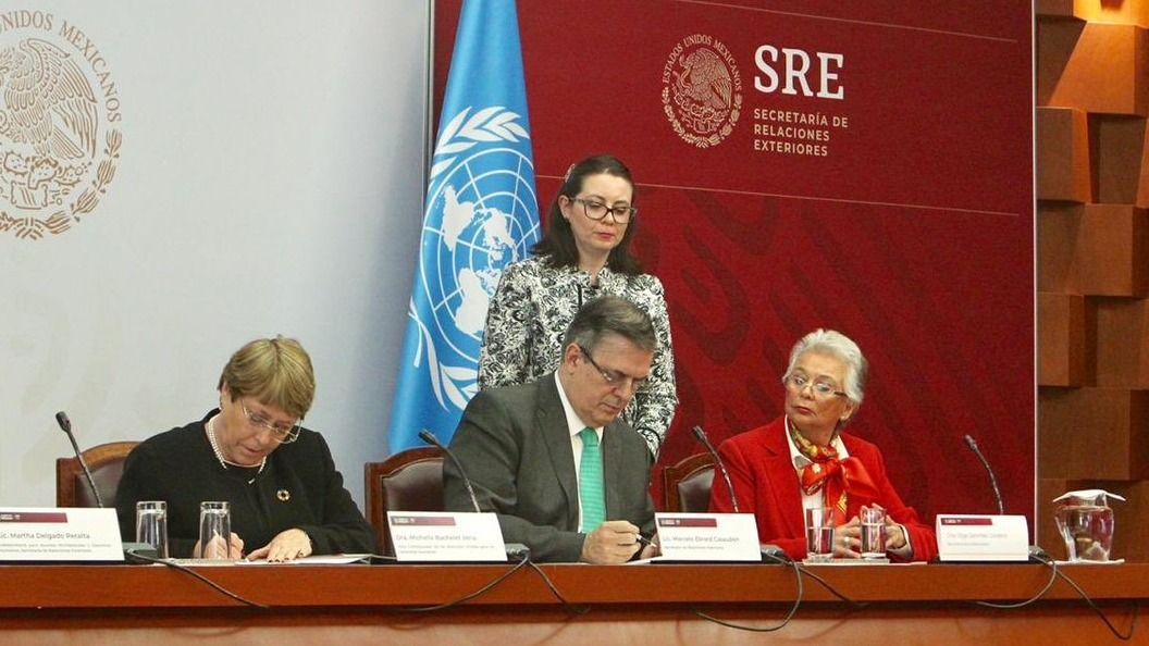 Gobierno mexicano firma acuerdo con ONU para caso Ayotzinapa