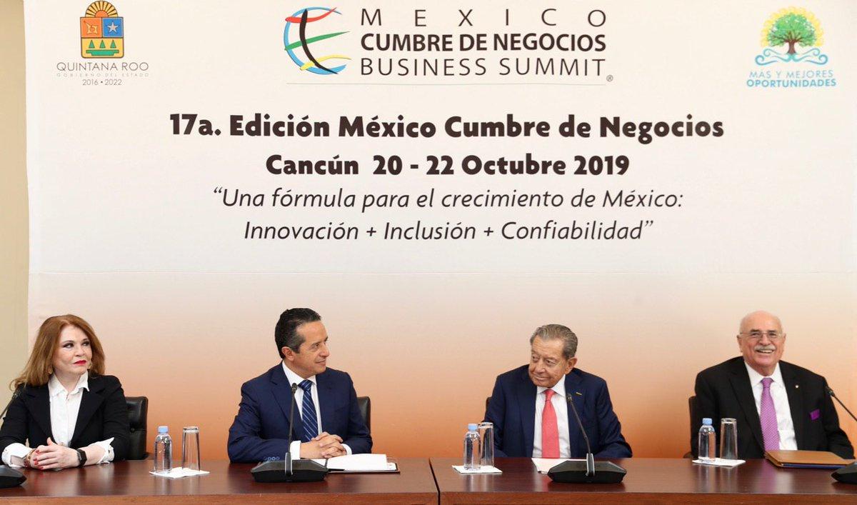 """Cancún será sede de la México Cumbre de Negocios """"Business Summit"""" 2019"""