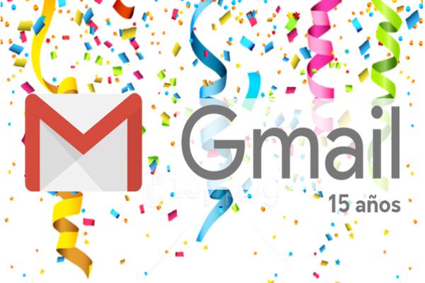 Gmail cumple 15 años de mandar y recibir no solo correos