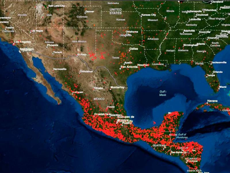 NASA publica imágenes tomadas por satélites de los incendios en México