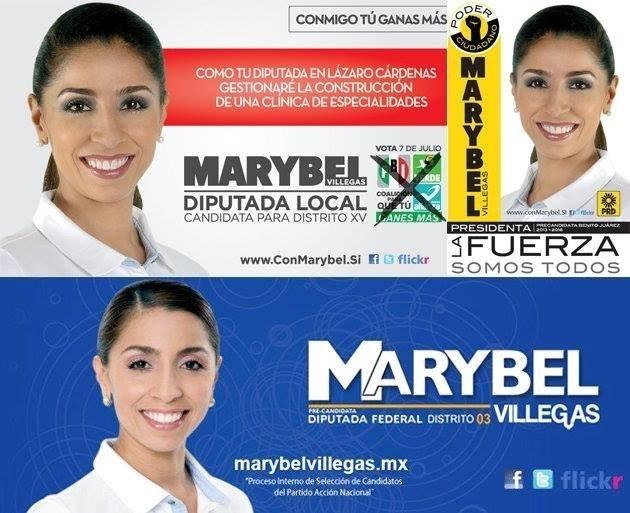 La camaleonica  Marybel Villegas