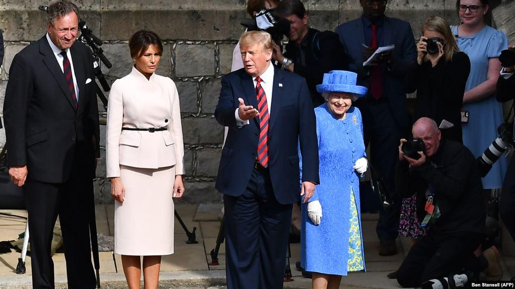 Trump llega a Reino Unido