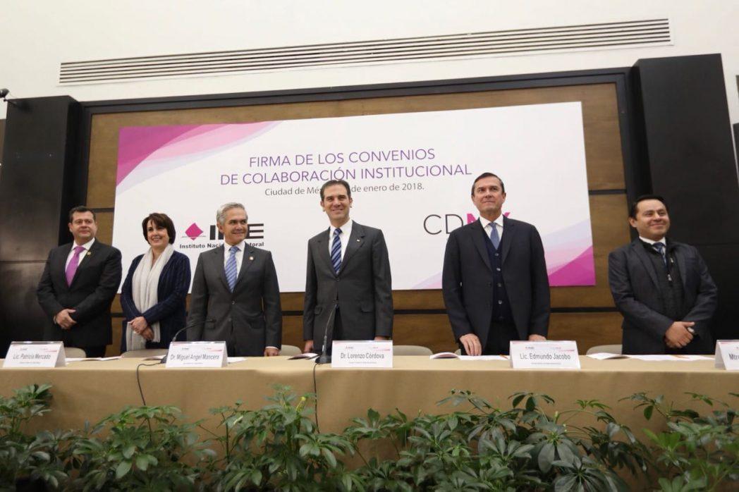 Secretaría de Gobernación firma convenio con el Instituto Electoral de la CDMX