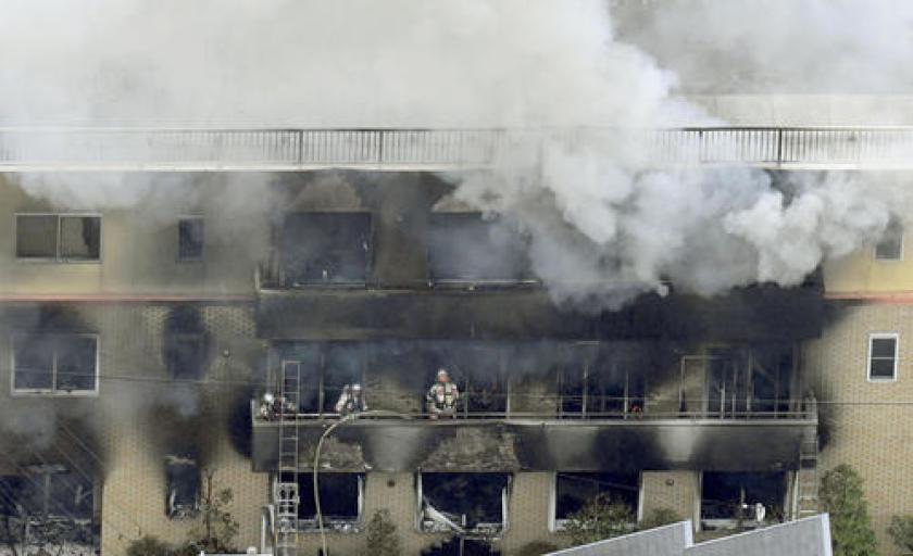 Mueren 33 personas por incendio provocado en Japón