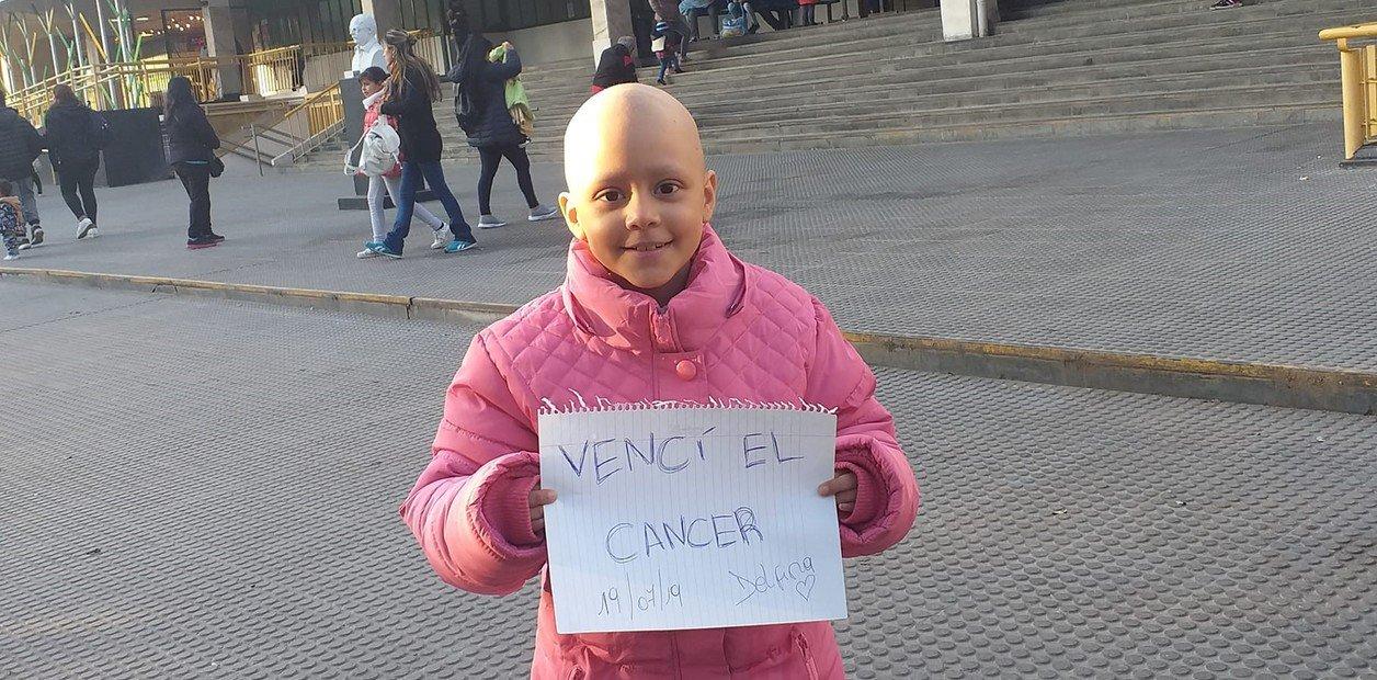 Delfina, la niña que venció al cáncer