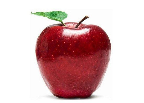 ¡Una manzana contiene bacterias!
