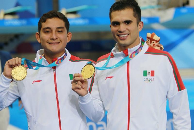 México logra oro-plata en la plataforma de 10 metros de Lima 2019