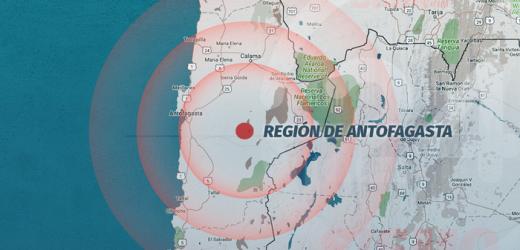 Sismo de magnitud 5 sacude la región chilena de Antofagasta
