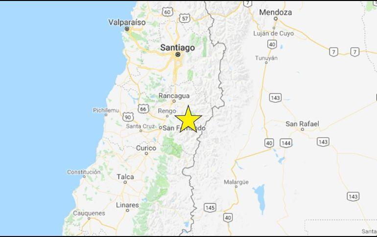 Sismo de magnitud 6.6 estremece el centro de Chile