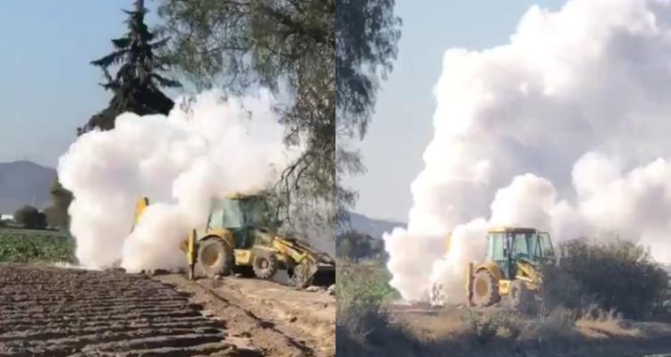 Fuga de gas LP obliga a cerrar autopista Puebla-Orizaba