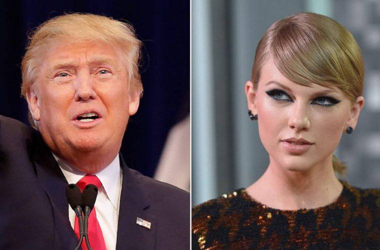 Taylor Swift critica a Donald Trump