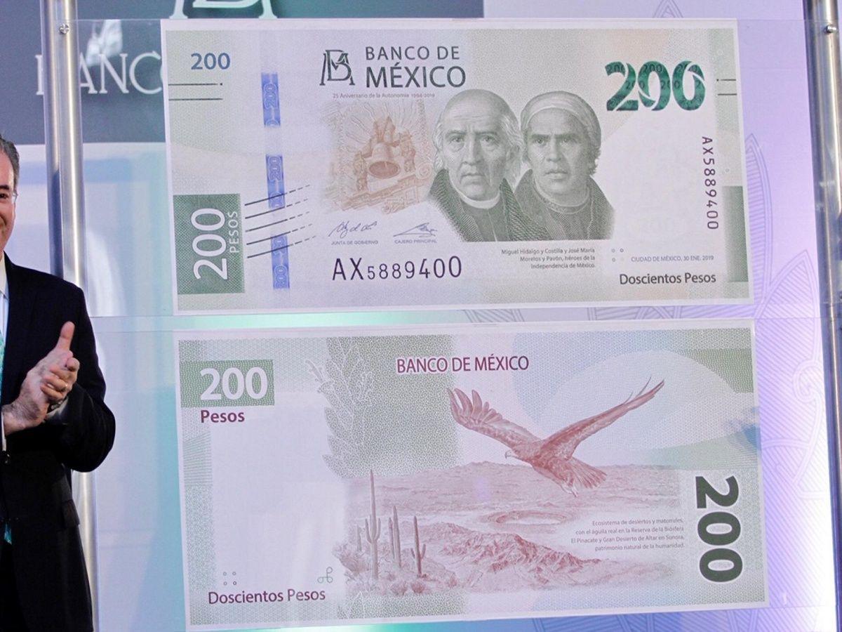 Banco de México presentó Nuevo billete de 200 pesos, ya no tendrá a Sor Juana