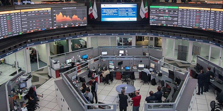 Inicia operaciones con ganancia la Bolsa Mexicana