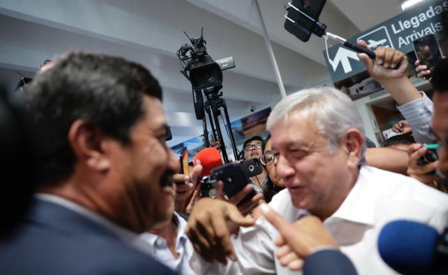 López Obrador llega a Chihuahua