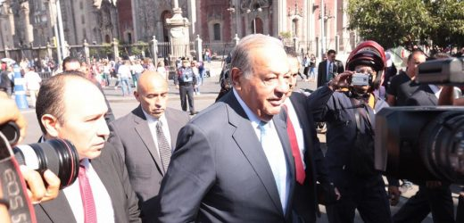 López Obrador recibe a Slim