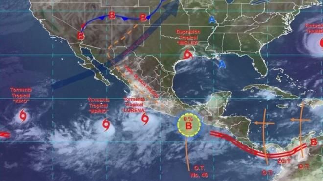 'Lorena' activa alerta en  Michoacán y Guerrero
