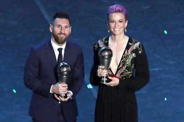 Lionel Messi y Megan Rapinoe amos del futbol