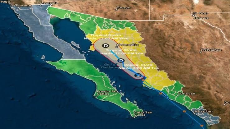Activan Alerta Amarilla en Sonora y Sinaloa