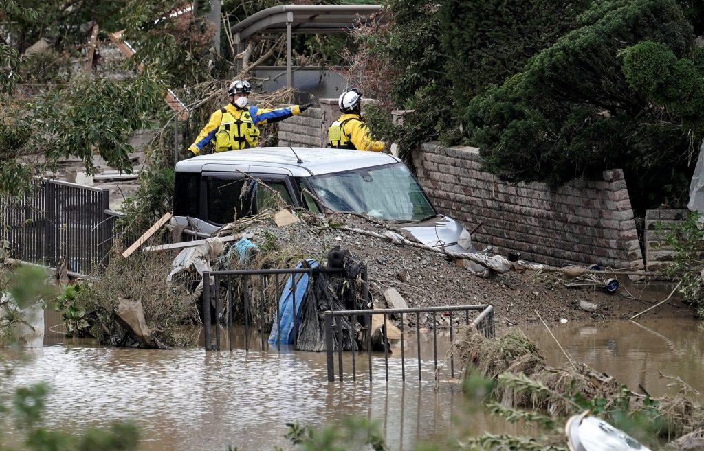 68 los muertos en Japón por tifón 'Hagibis'