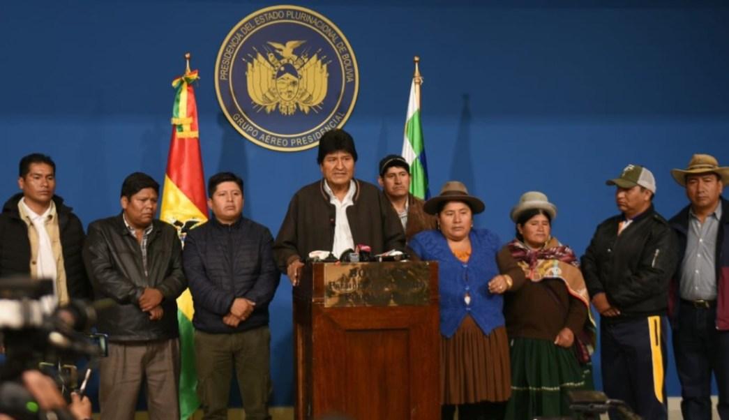 Deja vacío en el poder Evo Morales