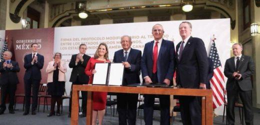 Concretan firma de el T-MEC