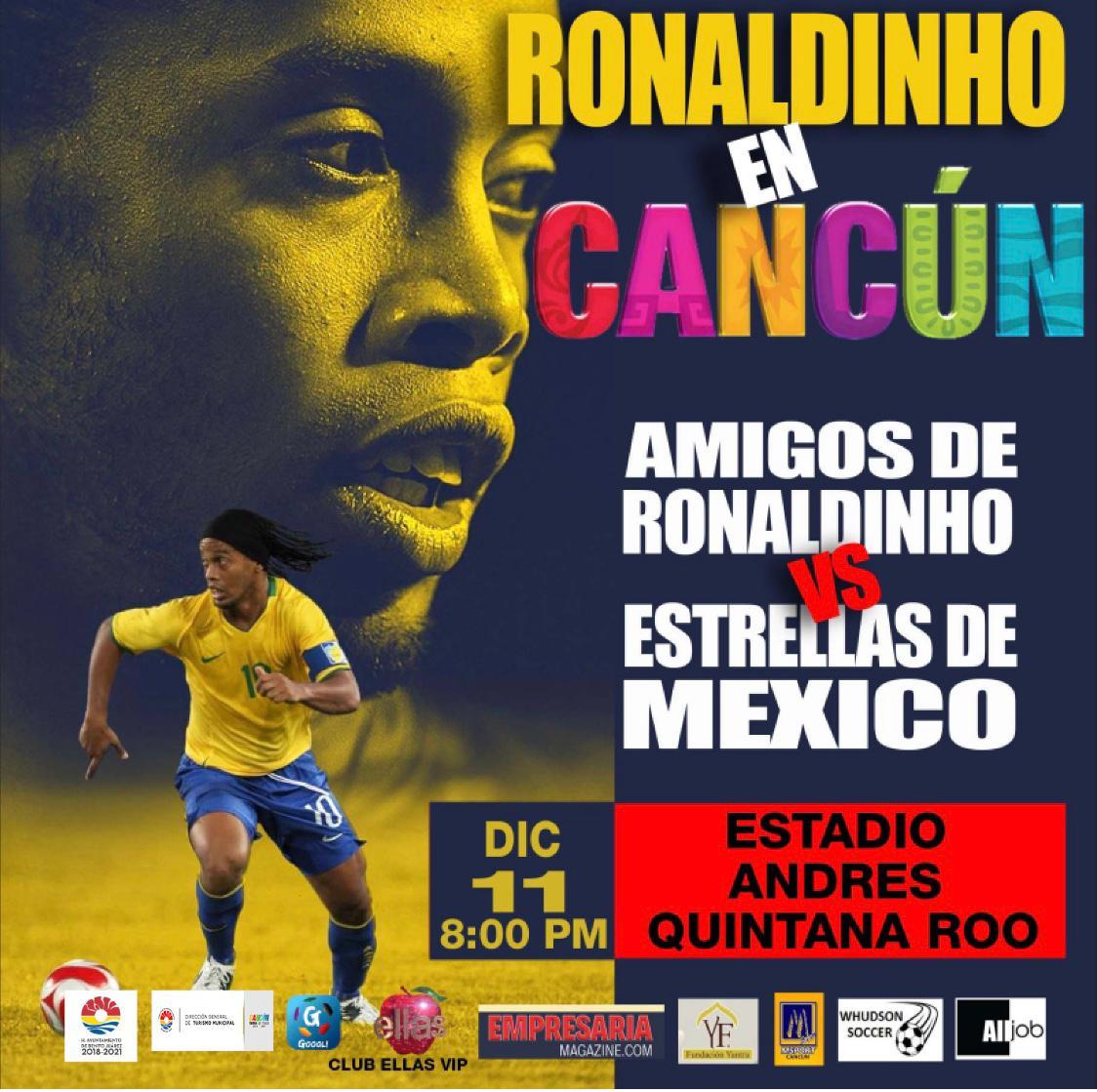 Cancunenses jugarán contra el ex astro Ronaldhino