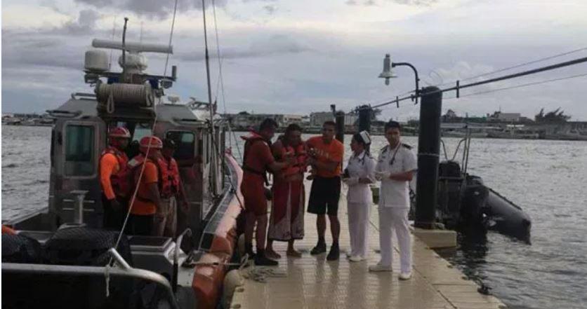 Rescata Semar a 4 náufragos en Yucatán
