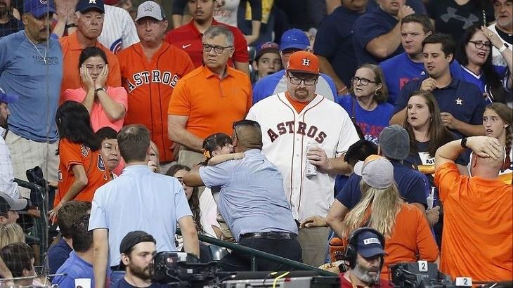 Niña sufre lesión cerebral tras pelotazo durante juego entre Astros y Cubs